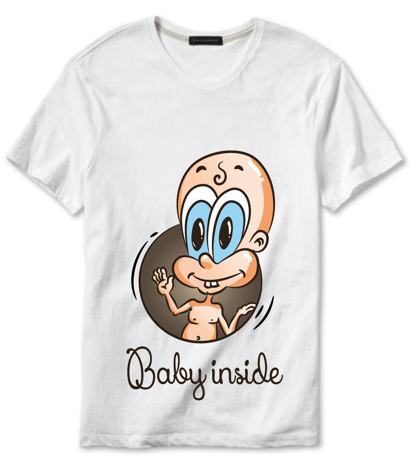 """Projekt koszulki """"Baby inside"""" - koszulka do kupienia w sklepiku"""