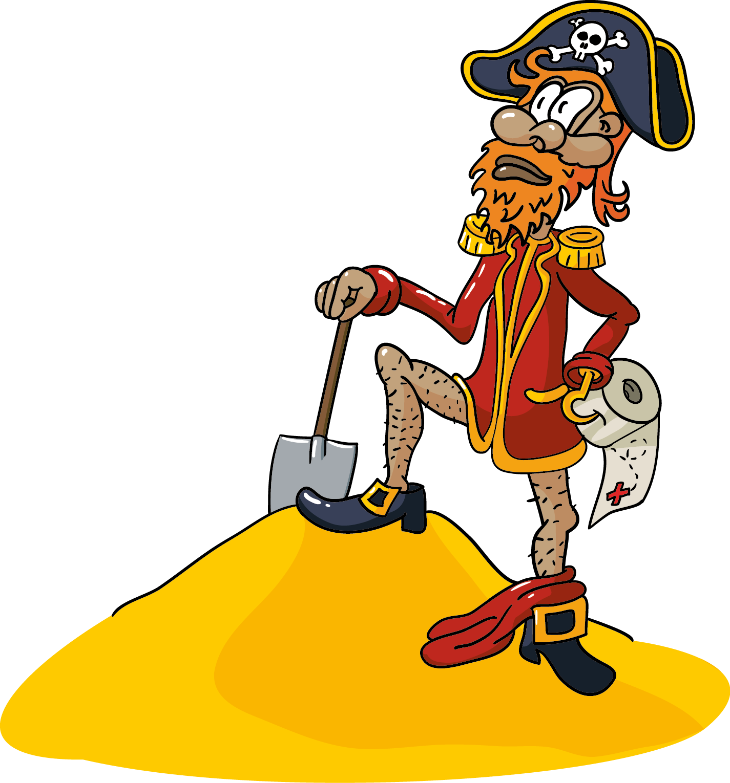 Każdy pirat zakopuje swoje skarby! Czyste mazury 2015 - Ilustracja wektorowa na koszulkę