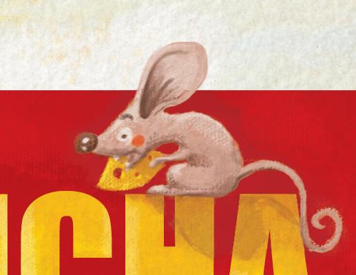 """Ilustracja do książeczki dla dzieci """"Stefek burczymucha"""" - detal okładki"""