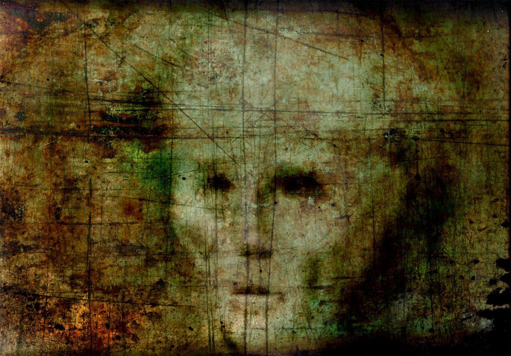 """""""Głód"""" - grafika komputerowa - jedna z grafik dyplomowych - obraz drukowany na płótnie"""