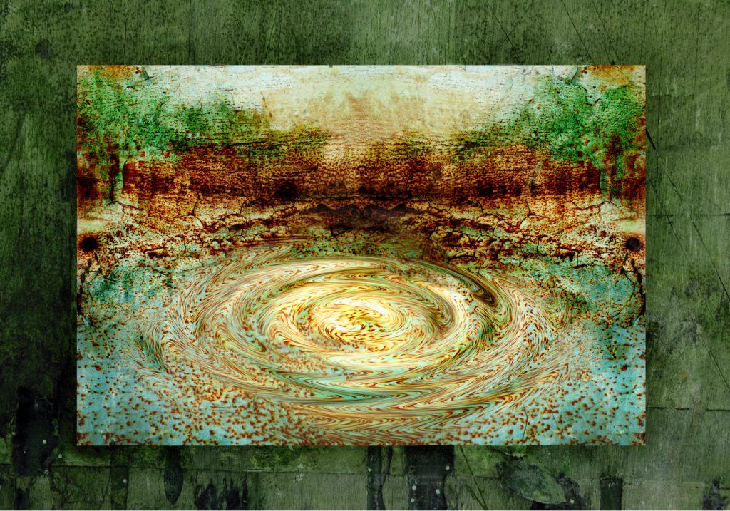 """Grafika komputerowa - """"Jak kamień w wodę"""" - obraz drukowany na płótnie"""