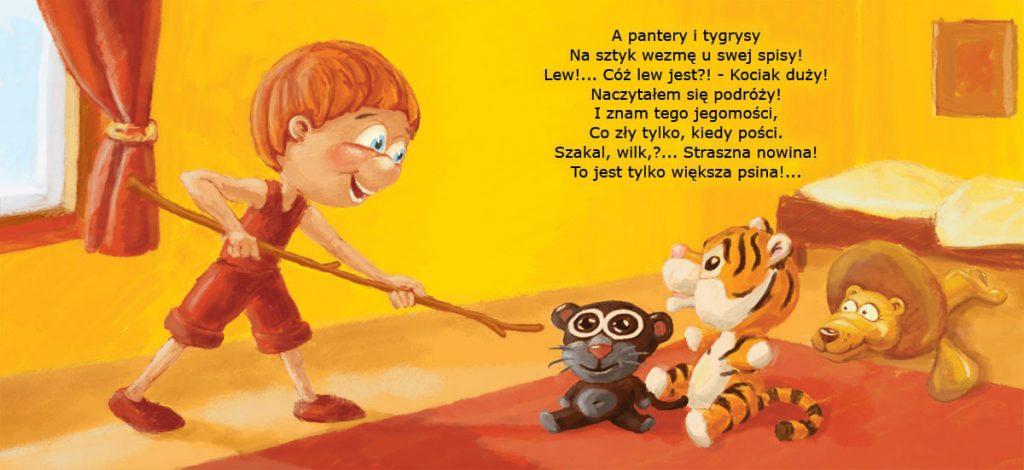 """Ilustracja do książeczki dla dzieci """"Stefek burczymucha -str. 3-4"""""""