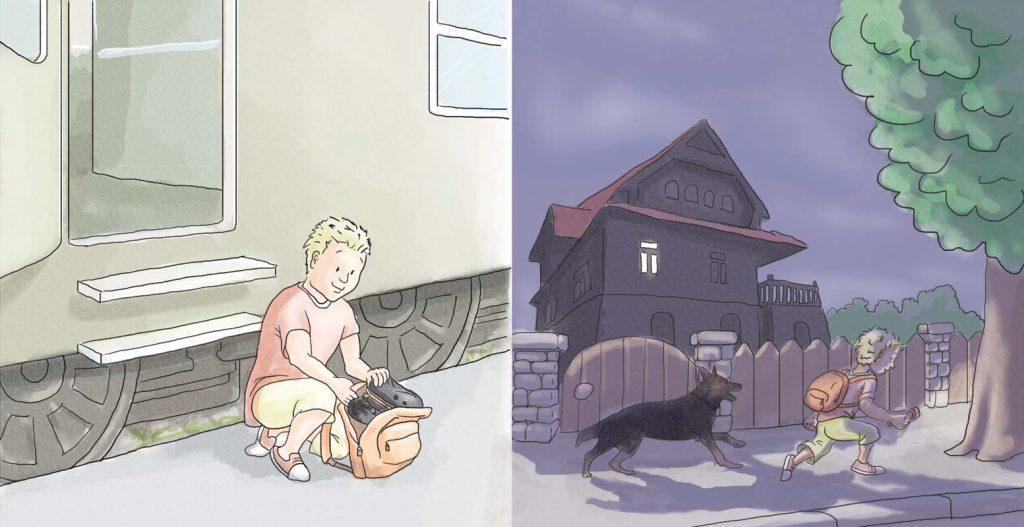 """Ilustracja do bajki """"Staś, Helenka i tajemnica parowozów"""""""