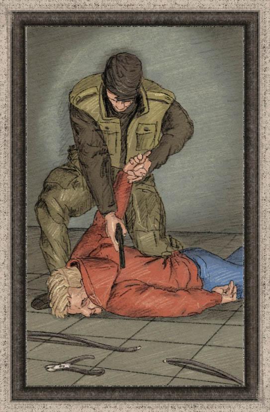 Sabotaż - rewers karty do gry planszowej